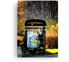 Bus station Canvas Print
