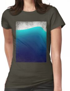 Blue Wave Womens Fitted T-Shirt