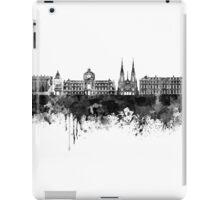Strasbourg skyline in black watercolor iPad Case/Skin