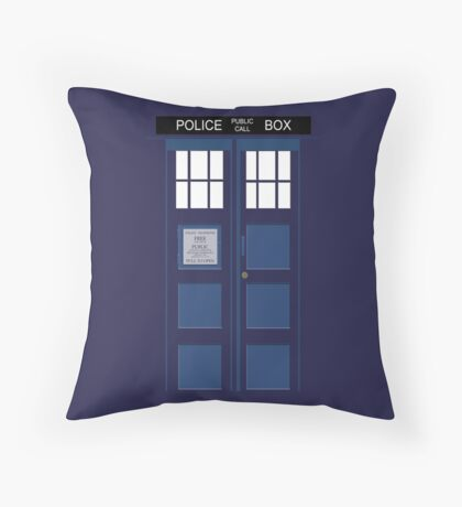 Tardis Blue Throw Pillow