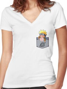 NARUTO CHIBI Women's Fitted V-Neck T-Shirt