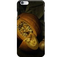 Still life with pumpkin and onions iPhone Case/Skin