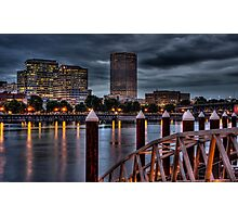 View From The South Bank - Portland Oregon Photographic Print