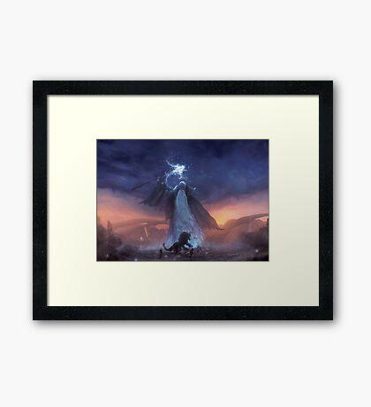 Thunder God (40 left!) Framed Print