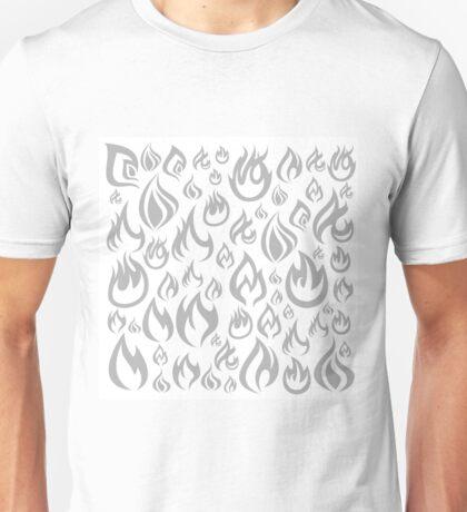 Fire a background Unisex T-Shirt