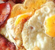 Polaroid bacon and eggs Sticker