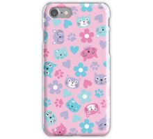 Kitty Cat Pattern by Everett Co iPhone Case/Skin