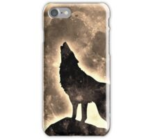 Howling Wolf, full moon, fullmoon, wild, dog, wolves iPhone Case/Skin