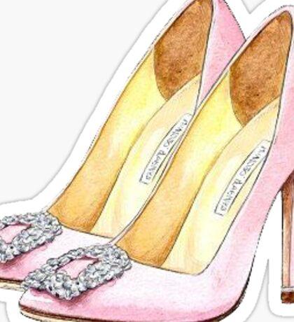 Manolo blanik shoes   Fashion Sticker