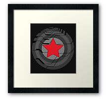 Red Star Shield Framed Print