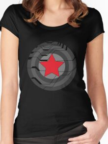 Red Star Shield Women's Fitted Scoop T-Shirt