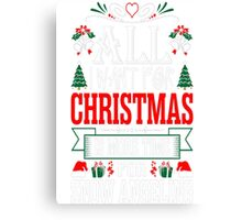 All I Want For Christmas More Time Snow Angeling T-Shirt Canvas Print