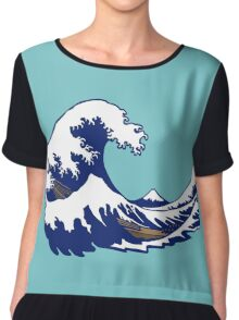 wave vague hokusai Chiffon Top
