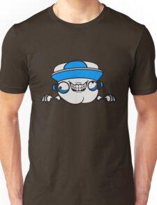 risse kratzer nerd geek schlau freak banner schriftzug elegant text schrift logo design cool crazy verrückt verwirrt blöd dumm komisch gestört  Unisex T-Shirt
