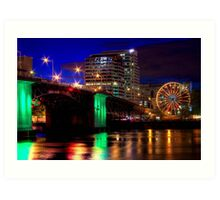 Morrison Street Bridge In Portland Two Art Print
