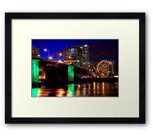 Morrison Street Bridge In Portland Two Framed Print