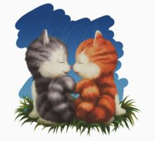 For LOVERS. For Beloved. Two kittens in love Kids Clothes