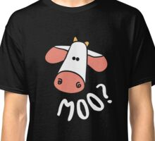 Cute Cow Moo. Cows Make Me Happy! Classic T-Shirt