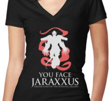 Jaraxxus Burning Legion Women's Fitted V-Neck T-Shirt