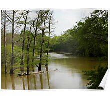 Crooked Creek Bayou at High Water Poster