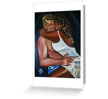 Jeny & Rene - Interracial Lovers Series  Greeting Card