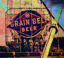Grain Belt Beer Art by susan stone