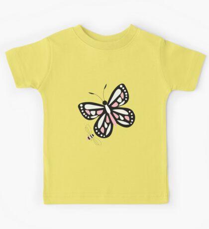 Butterflies and bees 003 Kids Tee
