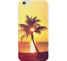 Sunset Palm III iPhone Case/Skin
