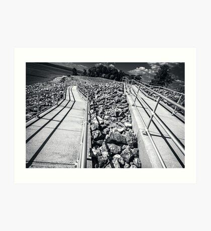 Rocks and Rails Art Print