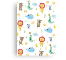 Zoo party Canvas Print