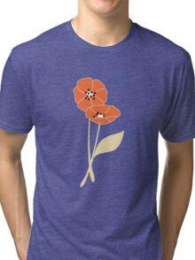 Retro flowers pattern 002 Tri-blend T-Shirt