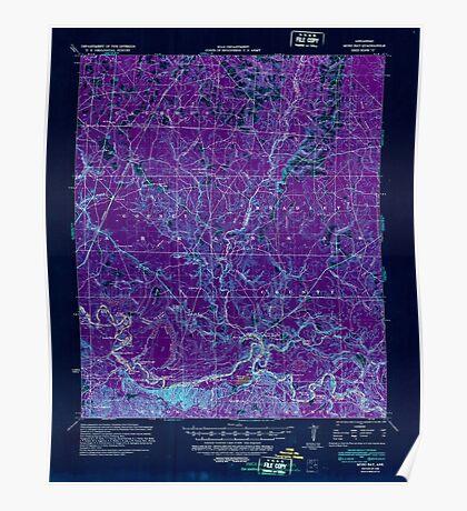 USGS TOPO Map Arkansas AR Moro Bay 260207 1939 62500 Inverted Poster