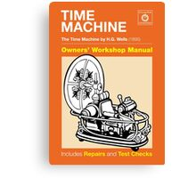 Owners' Manual - HG Wells Time Machine Canvas Print