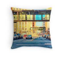 Enhanced Streets of St. Paul MN Throw Pillow
