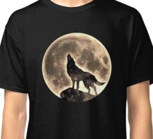 Howling Wolf, full moon, fullmoon, wild, dog, wolves Classic T-Shirt