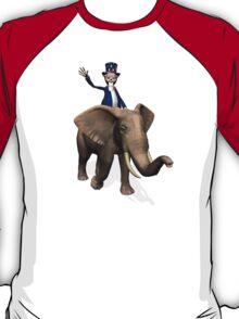 Uncle Sam Riding On Elephant T-Shirt