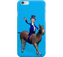 Uncle Sam Riding On Donkey iPhone Case/Skin