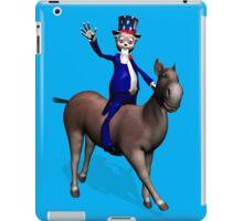 Uncle Sam Riding On Donkey iPad Case/Skin