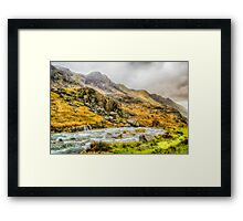 Where the Valley runs beautiful Framed Print