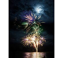 Fireworks in Bramble Bay Photographic Print