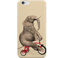 Elephant On Red Tricycle iPhone Case/Skin