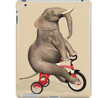 Elephant On Red Tricycle iPad Case/Skin