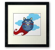 Hero Cat Framed Print