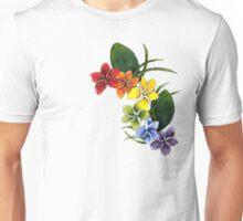 rainbow plumeria Unisex T-Shirt