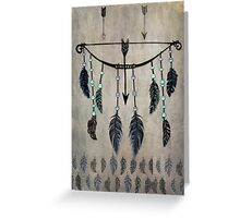Bow, Arrow, and Feathers Greeting Card