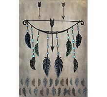 Bow, Arrow, and Feathers Photographic Print