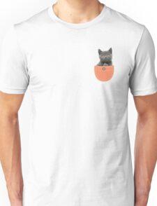 Cat In Pocket Giving The Finger Unisex T-Shirt
