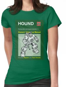 Owners' Manual - Hound (Transformers) Womens Fitted T-Shirt