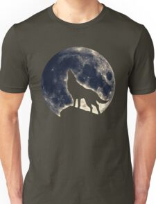 Wolf, moon, fantasy, wild, dog, wolves, sky, night Unisex T-Shirt