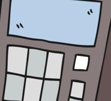 cartoon calculator Sticker